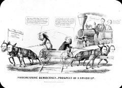 Abraham Lincoln Political Cartoon Of Progressive Democracy Umbra