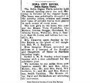 """Iowa City notes, Delta Sigma Theta: The Delta Sigma Theta sorority held its annual opening party,"" October 14, 1920"