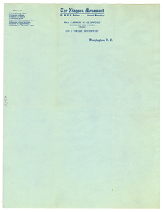 Niagara Movement letterhead