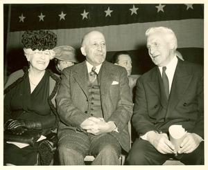 W. E. B. Du Bois, Maude Slye and A. Eustace Haydon at the Crisis Rally