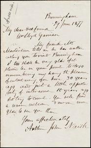 Letter from Arthur John Naish, Birmingham, [England], to William Lloyd Garrison, 19 June 1877