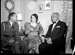 President Lescott and Madame (Lillian) Evanti [acetate film photonegative, ca. 1940s]