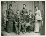 W. E. B. Du Bois with the Fisk University class of 1888