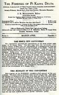 The Forensic of Pi Kappa Delta Series 6 No. 1