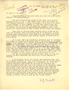 Letter from H. J. Pinkett to W. E. B. Du Bois