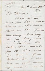 Letter from James Miller M'Kim, Phil[adelphi]a, [Pa.], to William Lloyd Garrison, Sept[ember] 23rd [1858]