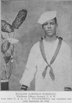 William Garfield Marshall; Wardroom officers steward, U.S.N.; Lost when U.S.A. C.T. Ticonderoga was torpedoed and sunk September 30, 1918