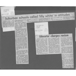Accusations of racism in suburban schools