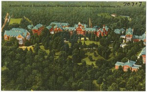 Airplane view of Randolph-Macon Woman's College and campus, Lynchburg, Va
