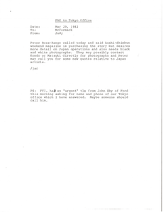 Fax from Judy A. Chilcote to Mark H. McCormack