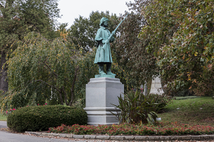 Monument to a Union Army soldier from the U.S. Civil War at the 733-acre Spring Grove Cemetery and Arboretum in Cincinnati, Ohio, the second-largest cemetery in the United States, behind Calverton National Cemetery in New York City