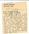 WAC negro band gives fine concert; Herald Register (Grinnell, Iowa); Women's military activity