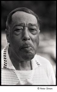 Duke Ellington eating a popsicle at Jackie Robinson's jazz concert