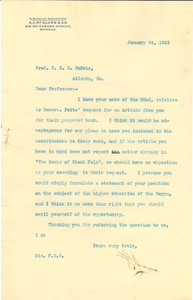 Letter from A.C. McClurg and Company to W. E. B. Du Bois