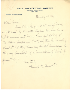 Letter from Frank R. Arnold to Editor of the Crisis