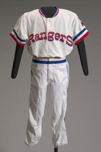 Texas Rangers basball uniform short pants worn by Charley Pride