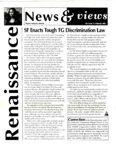 Renaissance News & Views, Vol. 9 No. 2 (Feburary 1995)