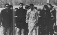 Demonstration, African-American Students Leaving Campus