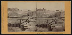 Interior of Fort Sumpter (i.e. Sumter), looking toward Charleston