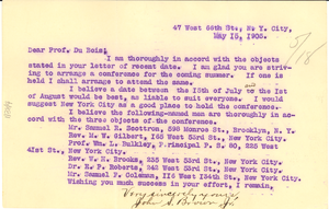 Letter from John S. Brown Jr. to W. E. B. Du Bois