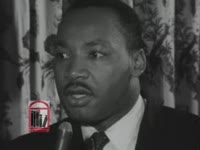 "WSB-TV newsfilm clip of Dr. Martin Luther King, Jr. asking that president John F. Kennedy issue a ""Second Emancipation Proclamation"" declaring segregation illegal, 1961 June"