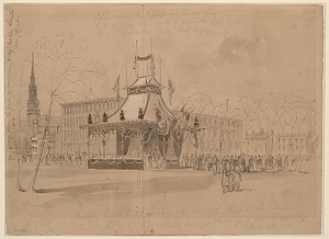 Building Erected for the reception of the body of the President at Cleveland