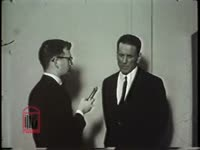 WSB-TV newsfilm clip of a reporter interviewing University of Mississippi history professor James W. Silver about Mississippi race relations in Oxford, Mississippi, 1964