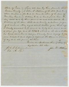 [Bill of Sale from John D. Adkins to David C. Dickson]