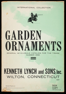 Garden ornaments, general wholesale catalog for the trade, #2066, desk copy, Kenneth Lynch & Sons, Inc., Wilton, Connecticut