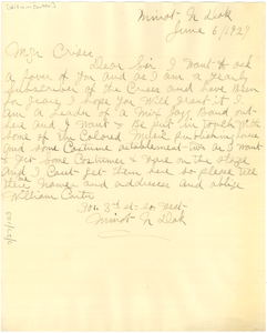 Letter from William Carter to Crisis