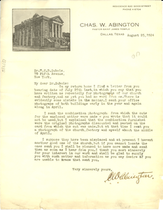 Letter from Charles W. Abington to W. E. B. Du Bois
