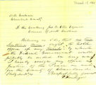 Governor's Correspondence: Resignation of D. Froneberger as Cleveland County Justice of the Peace, March 18, 1861