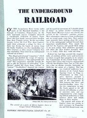 Thumbnail for The underground railroad / [text by Mrs. Linda McCabe McCurdy ; edited by Harold L. Myers]. Second printing