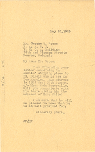 Letter from Jessie Fauset to George W. Gross