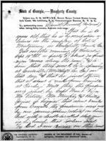 Affidavit of Daniel Howard: Albany, Georgia, 1868 Sept. 25