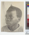 Head portrait of a Yao boy, Malawi, ca.1910