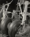 Aircraft workers assembling landing gear for medium bomber at Glenn L. Martin plant, Baltimore