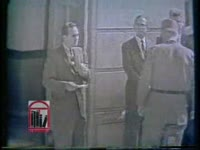WSB-TV newsfilm clip of Alabama governor Georgia C. Wallace standing in the doorway to prevent registration of African American students at the University of Alabama, Tuscaloosa, Alabama, 1963 June 11
