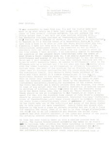 Letter from Truman Nelson to Shirley Graham