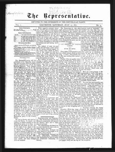 The Representative. (Galveston, Tex.), Vol. 1, No. 9, Ed. 1 Saturday, July 15, 1871 The Representative