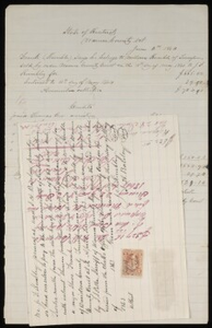 Documents relating to the sale of runaway slave, Frank, belonging to William Kimble of Davidson County, Tenn., $105.40, Warren County, Ky.