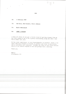 Fax from Mark H. McCormack to Bob Kain