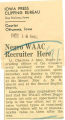 Negro WAAC recruiter here; Courier (Ottumwa, Iowa); Women's military activity