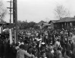 Mardi Gras parade in an African American neighborhood in Mobile, Alabama.