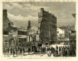 Burning of the Spottswood House, Richmond Harper's Weekly