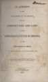 """Excerpts from """"An Address to the Citizens of Alabama, on the Constitution and Laws of the Confederate States of America"""" by Robert H. Smith."""