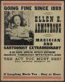 Going fine since 1889: Ellen E. Armstrong magician and cartoonist extraodinary