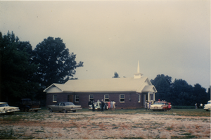 Antioch Church, Blue Mountain, Miss.: rebuilt after an arson attack