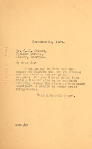 Letter from W. E. B. Du Bois to J. H. Watson