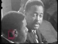 WSB-TV newsfilm clip of Hosea Williams speaking about the possibility of violence in the Civil Rights movement, 1966 July